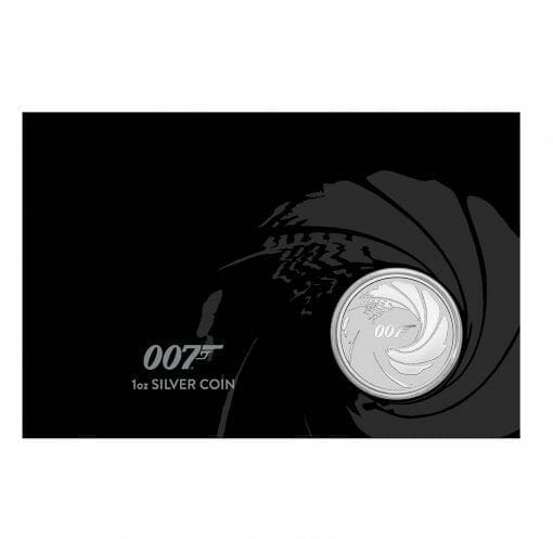 2020 James Bond 007 1oz .9999 Silver Coin in Black Card 1