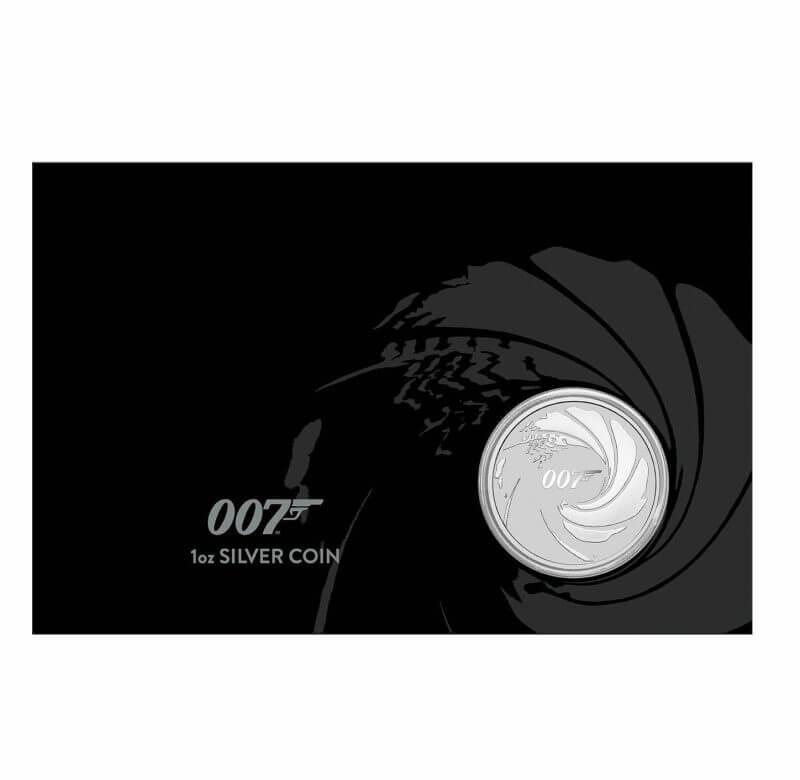 2020 James Bond 007 1oz .9999 Silver Coin in Black Card 1