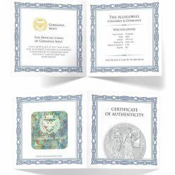 2019 The Allegories - Columbia & Germania 5oz .9999 Silver Coin 9