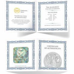 2019 The Allegories - Columbia & Germania 10oz .9999 Silver Coin 6