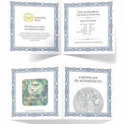 2019 The Allegories - Columbia & Germania 2oz .9999 Silver Coin 9