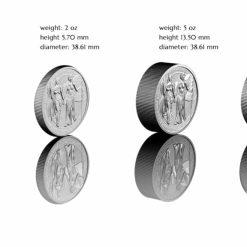 2019 The Allegories - Columbia & Germania 10oz .9999 Silver Coin 7