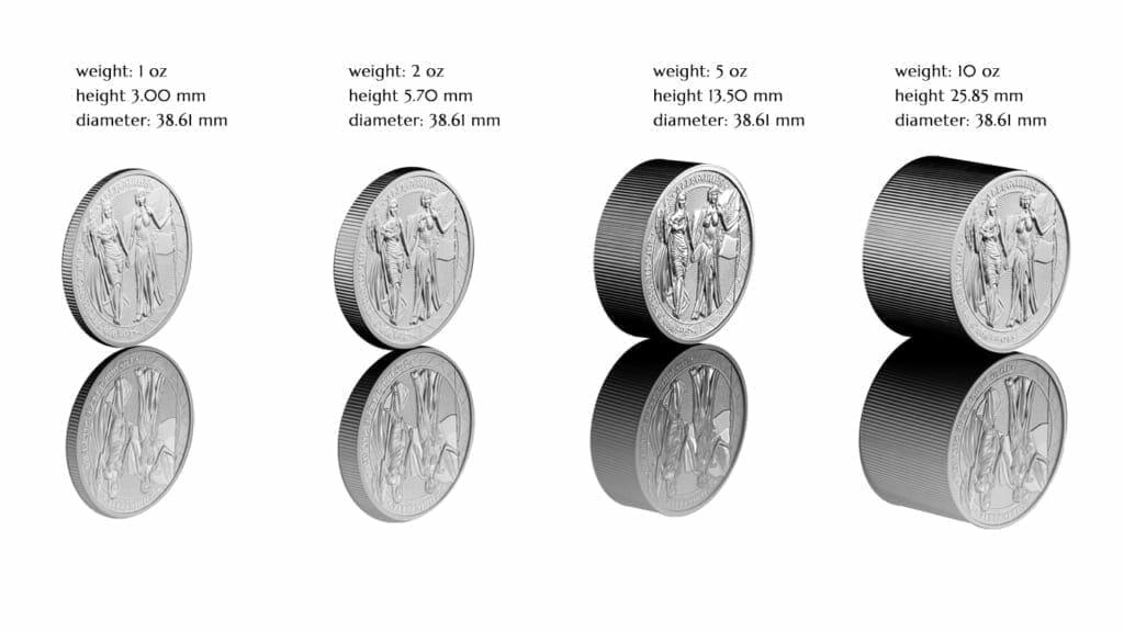 2019 The Allegories - Columbia & Germania 1oz .9999 Silver Bullion Coin 3
