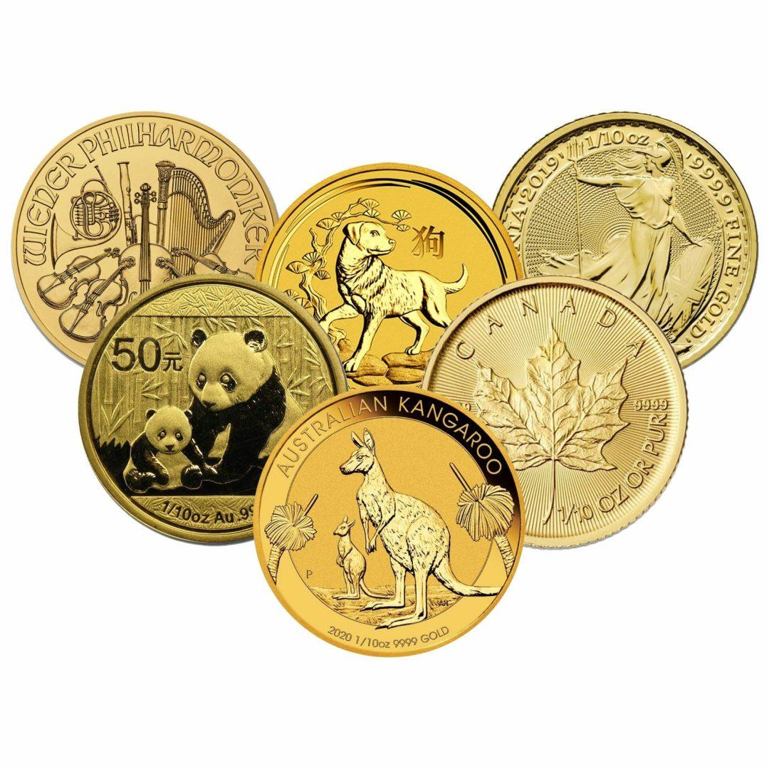 Low Premium 1/10oz Gold Bullion 1