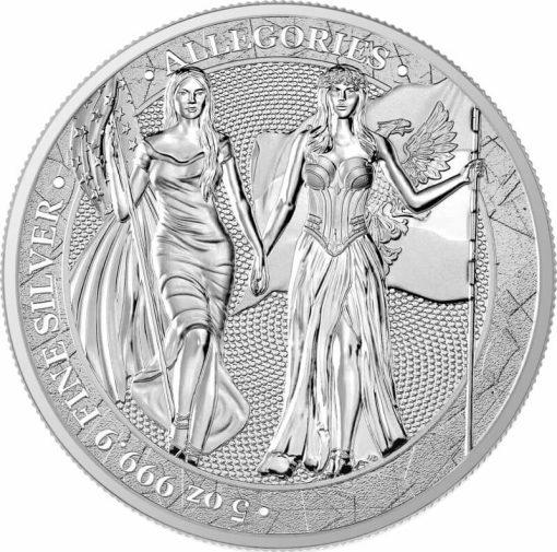 2019 The Allegories - Columbia & Germania 5oz .9999 Silver Coin 1