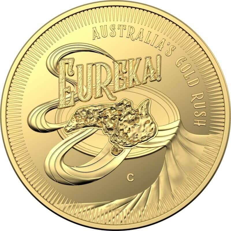 2020 Eureka! Australia's Gold Rush 1/10oz .9999 Gold Proof 'C' Mintmark Coin 1