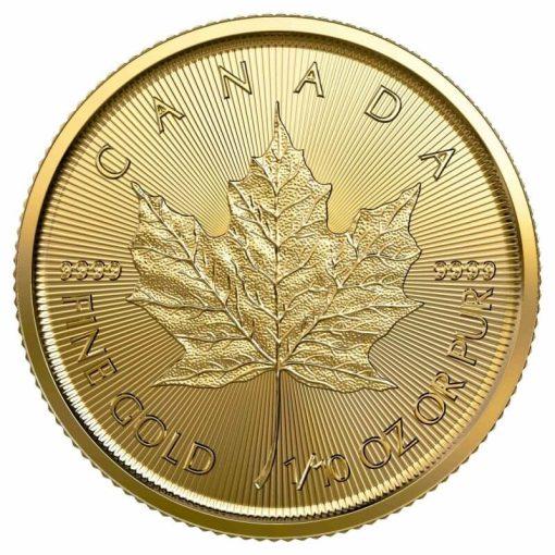 2020 Maple Leaf 1/10oz .9999 Gold Bullion Coin 1