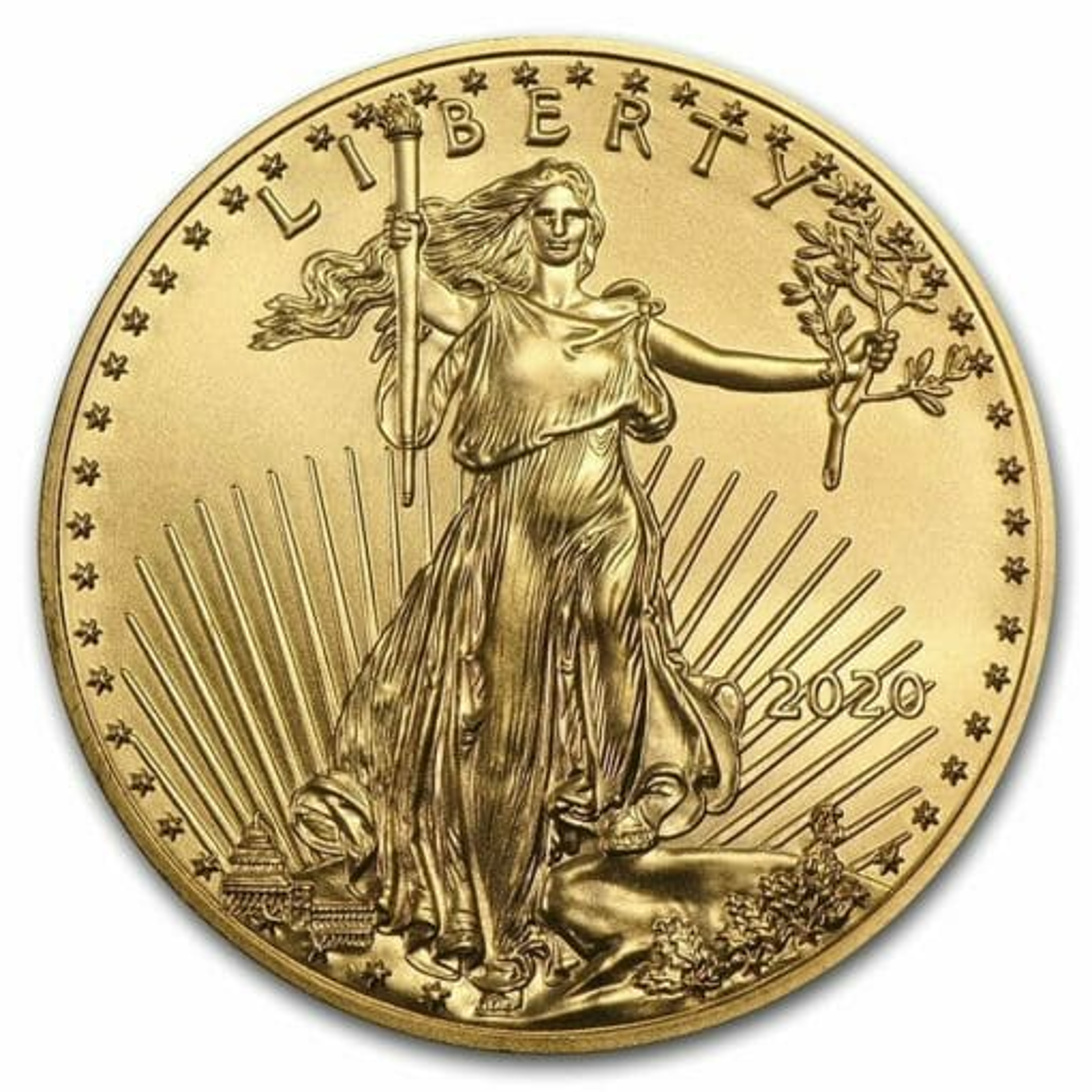 2020 American Gold Eagle 1/10oz Gold Coin 1
