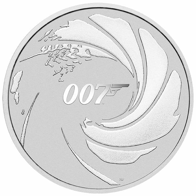 2020 James Bond 007 1oz .9999 Silver Coin in Black Card 2