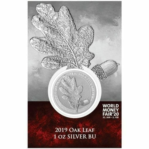 2019 Mythical Forest - Oak Leaf 1oz .9999 Silver Coin - World Money Fair Exclusive 1