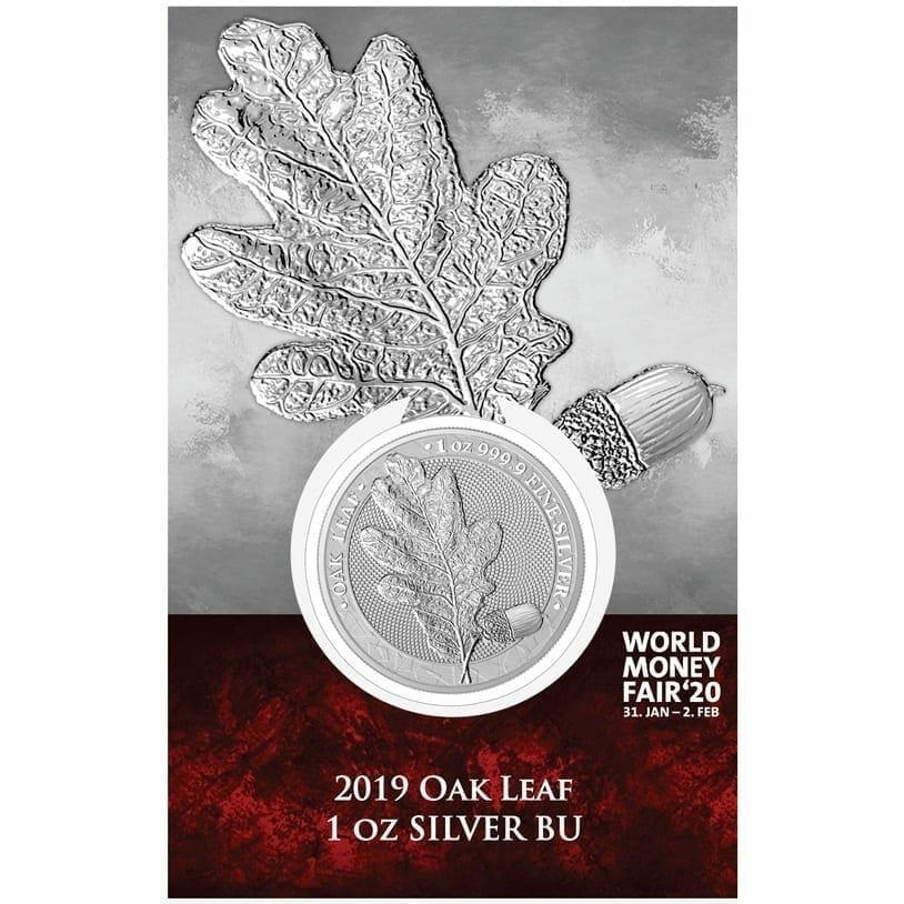 2019 Mythical Forest - Oak Leaf 1oz .9999 Silver Coin - World Money Fair Exclusive 1