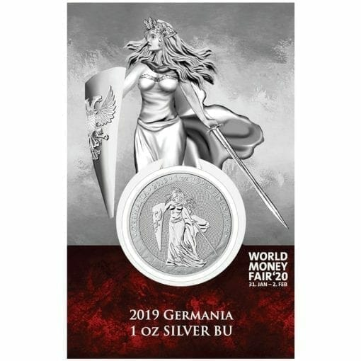 2019 Germania 1oz .9999 Silver Coin - World Money Fair Exclusive 1