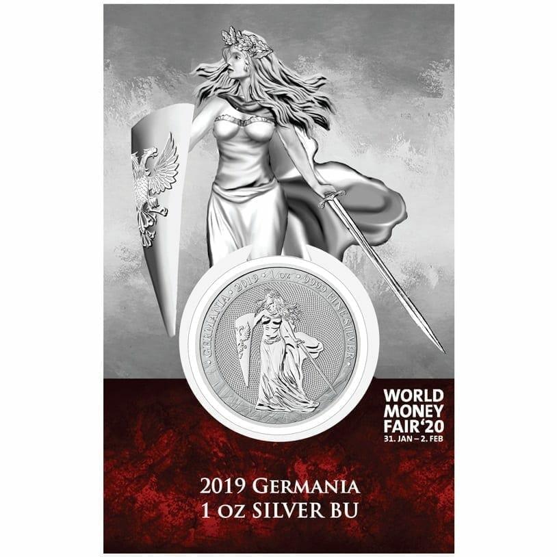 2019 Germania 1oz .9999 Silver Coin - World Money Fair Exclusive 1