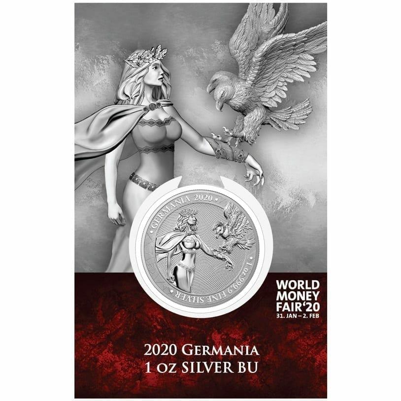 2020 Germania 1oz .9999 Silver Coin - World Money Fair Exclusive 1