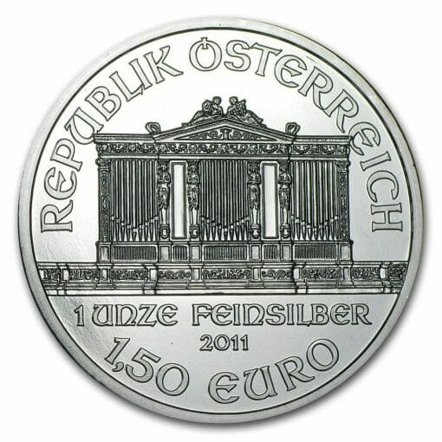 2011 Austrian Philharmonic 1oz .999 Silver Bullion Coin 1