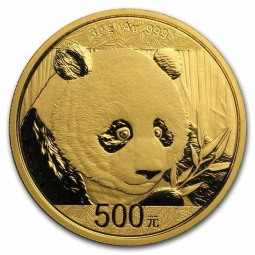 2018 Chinese Gold Panda 30g .999 Gold Bullion Coin 1