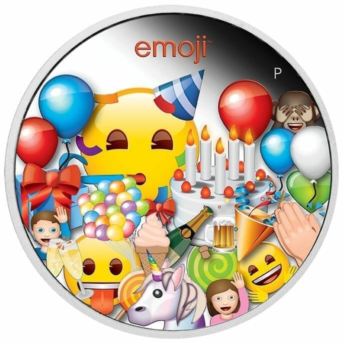 2020 emoji ™ Celebration 1oz .9999 Silver Proof Coin 1