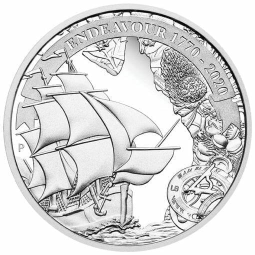 2020 Voyage of Discovery - Endeavour 1770-2020 1oz .9999 Silver Proof Coin 1