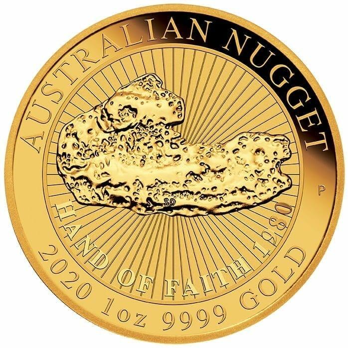 2020 Hand of Faith 1oz .9999 Gold Bullion Coin 1