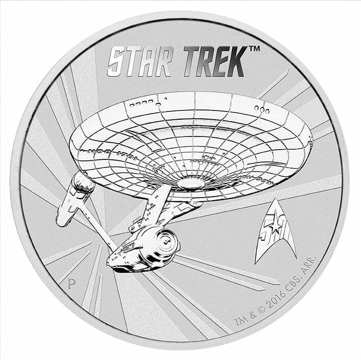 2016 Star Trek USS Enterprise NCC-1701 1oz .999 Silver Coin in Card 5