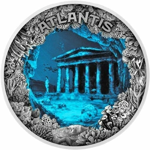 2019 Atlantis - The Sunken City 2oz .999 Antiqued Silver Coin 1