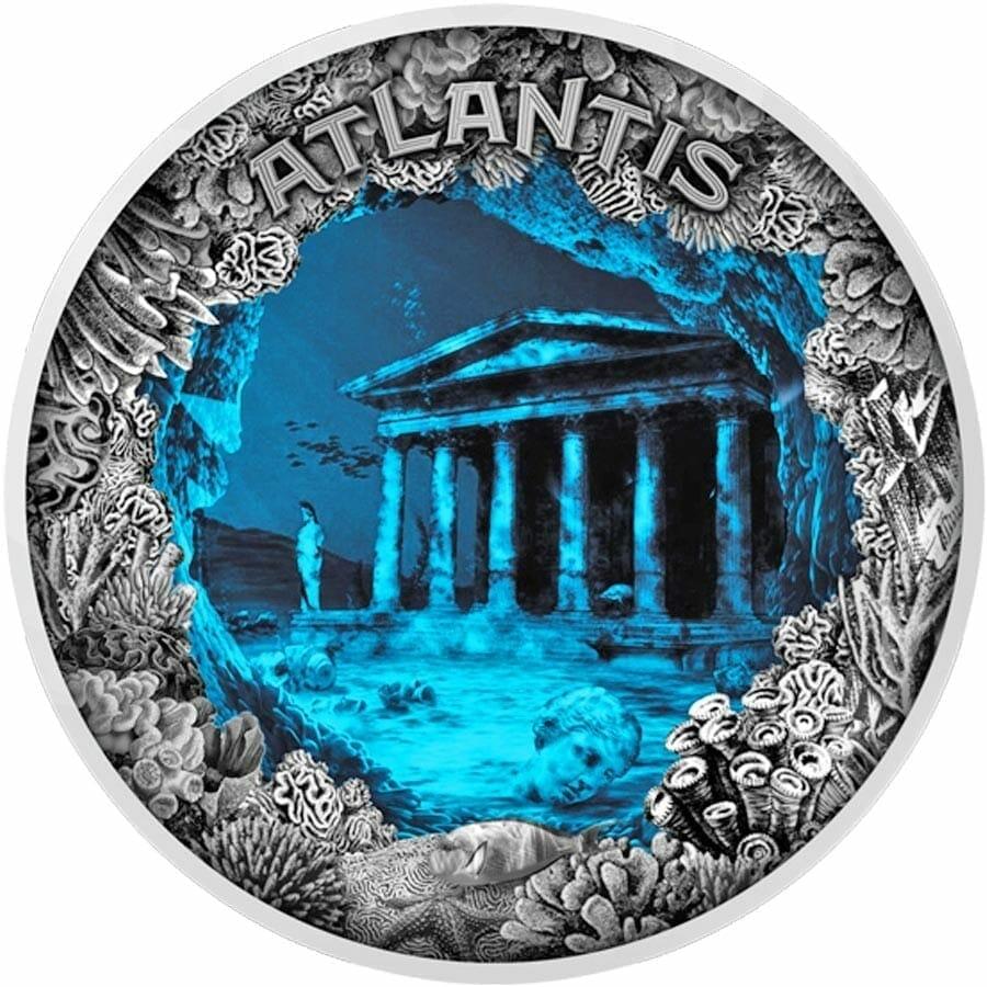 2019 Atlantis - The Sunken City 2oz .999 Antiqued Silver Coin 1