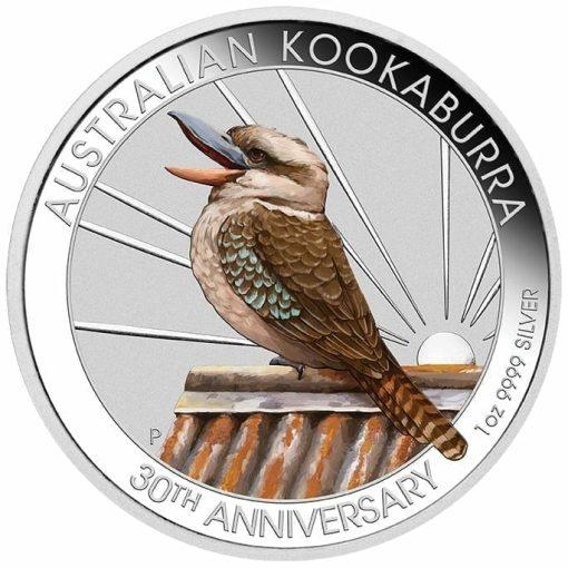 2020 Kookaburra Coloured 1oz .9999 Silver Coin - World Money Fair / Berlin Coin Show 1