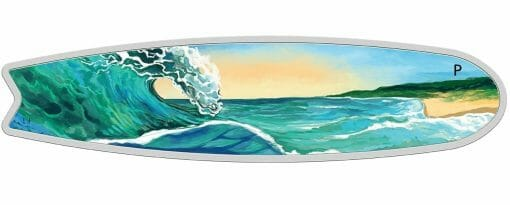2020 Surfboard 2oz .9999 Coloured Silver Proof Coin 2