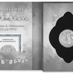 2019 The Allegories - Columbia & Germania 5oz .9999 Silver Coin 8