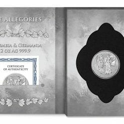 2019 The Allegories - Columbia & Germania 2oz .9999 Silver Coin 8