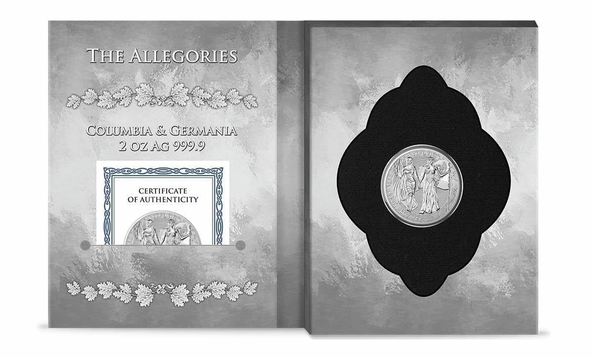 2019 The Allegories - Columbia & Germania 2oz .9999 Silver Coin 3