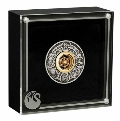 2020 Voyage of Discovery - Endeavour 1770-2020 2oz .9999 Silver Antiqued Coin 4