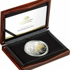 2020 $1 Mob of Roos - Selectively Gold Plated 5oz Silver Proof Coin 7
