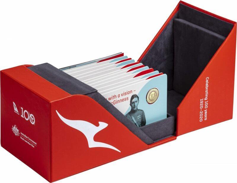 2020 Qantas Centenary 11 $1 Coloured Coin Uncirculated Set 9