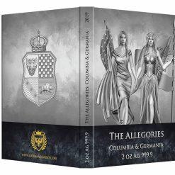 2019 The Allegories - Columbia & Germania 2oz .9999 Silver Coin 10