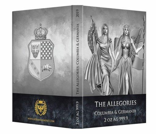 2019 The Allegories - Columbia & Germania 2oz .9999 Silver Coin 5