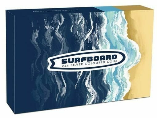 2020 Surfboard 2oz .9999 Coloured Silver Proof Coin 5