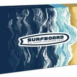2020 Surfboard 2oz .9999 Coloured Silver Proof Coin 9