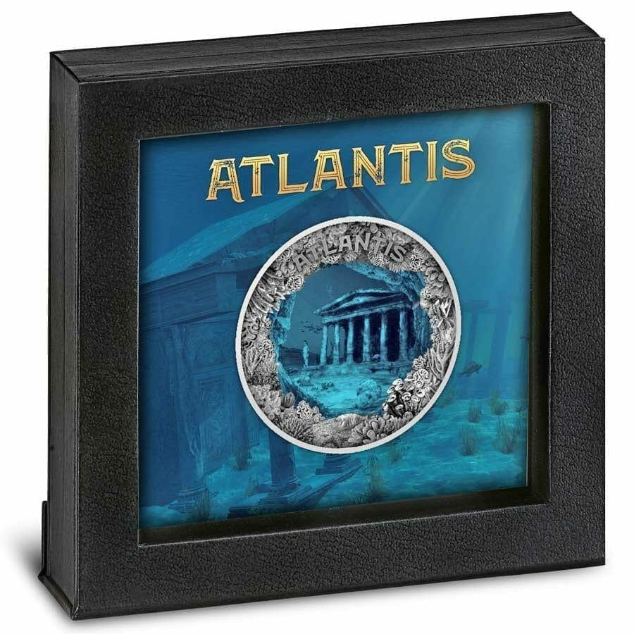 2019 Atlantis - The Sunken City 2oz .999 Antiqued Silver Coin 3