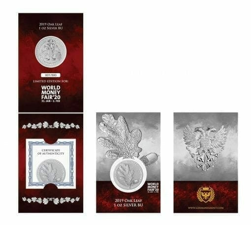 2019 Mythical Forest - Oak Leaf 1oz .9999 Silver Coin - World Money Fair Exclusive 3