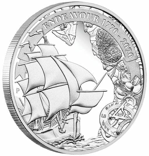 2020 Voyage of Discovery - Endeavour 1770-2020 1oz .9999 Silver Proof Coin 2