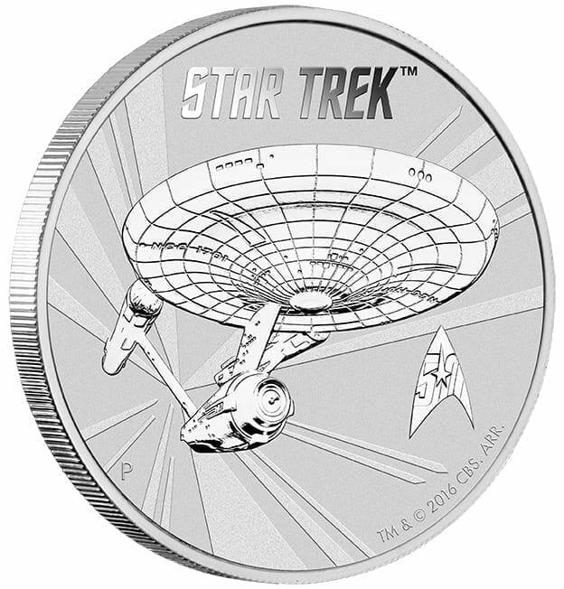 2016 Star Trek USS Enterprise NCC-1701 1oz .999 Silver Coin in Card 6