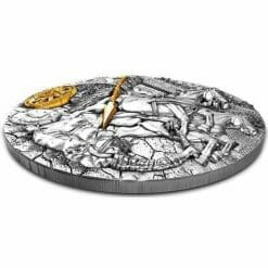 2019 Chariot 2oz .999 Gilded Ultra High Relief Antiqued Silver Coin 5