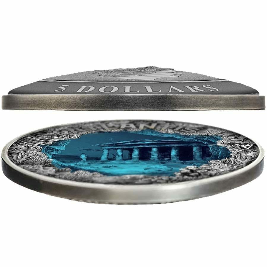 2019 Atlantis - The Sunken City 2oz .999 Antiqued Silver Coin 2