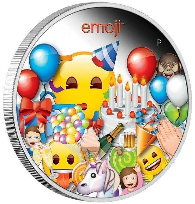 2020 emoji ™ Celebration 1oz .9999 Silver Proof Coin 2