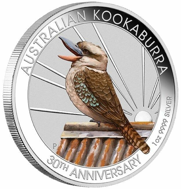 2020 Kookaburra Coloured 1oz .9999 Silver Coin - World Money Fair / Berlin Coin Show 2