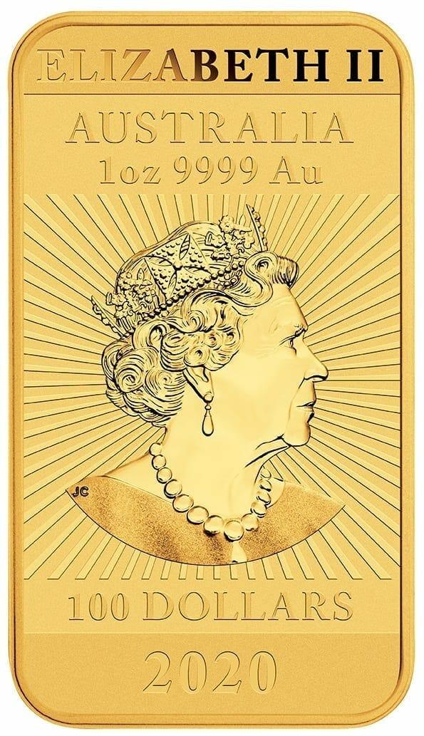 2020 Dragon 1oz .9999 Gold Bullion Rectangular Coin 3