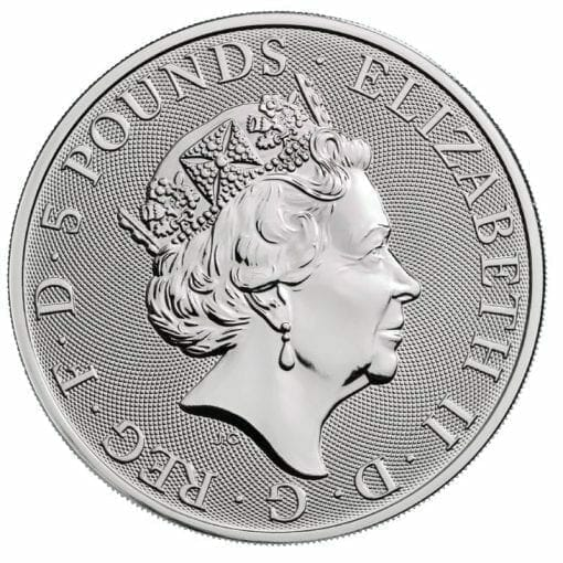 2020 The Queen's Beasts - The White Horse of Hanover 2oz .9999 Silver Bullion Coin 3