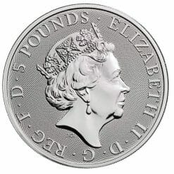 2020 The Queen's Beasts - The White Horse of Hanover 2oz .9999 Silver Bullion Coin 5