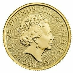 2020 The Queen's Beasts - The White Lion of Mortimer 1/4oz .9999 Gold Bullion Coin 3